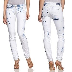 Maison Scotch le Voyage Skinny Bleach Wash Jeans